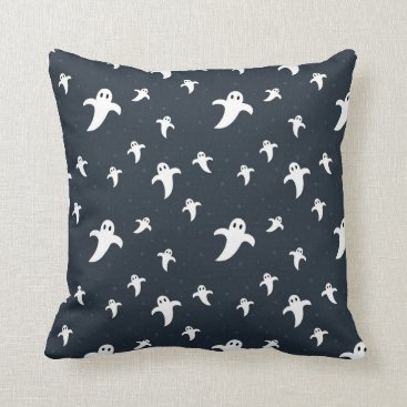 Halloween Themed Cute white ghosts throw pillow