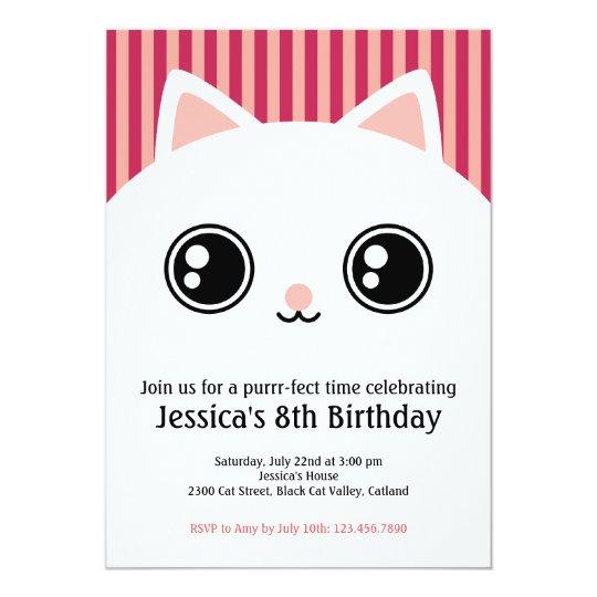 Cat Invitations Announcements – Cat Birthday Invitations