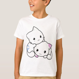 Cute White Kittens Hugging T-Shirt