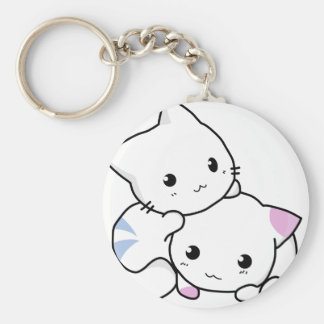 Cute White Kittens Key Chain