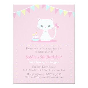 Kitty Cat Birthday Invitations Zazzle