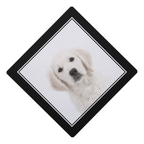 Cute White Labrador Dog Graduation Cap Topper
