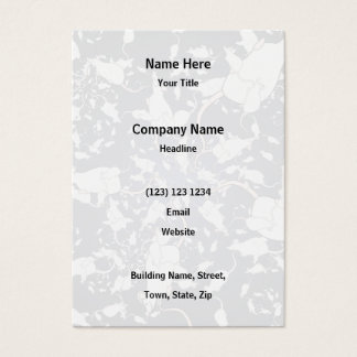 Cute White Mice. In Deep Space. Custom Business Card