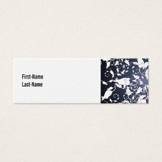 Cute White Mice. In Deep Space. Custom Mini Business Card