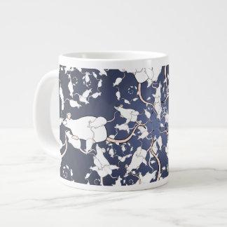 Cute White Mice. In Deep Space. Custom 20 Oz Large Ceramic Coffee Mug