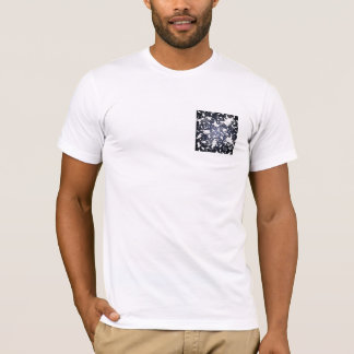 Cute White Mice. In Deep Space. Custom T-Shirt
