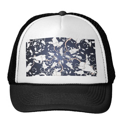 Cute White Mice. In Deep Space. Custom Trucker Hat