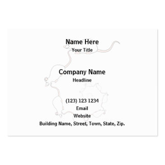 Cute White Mouse Design. Spiral of Mice. Business Card Templates
