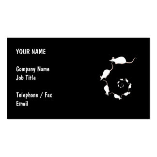Cute White Mouse Design. Spiral of Mice. Business Card