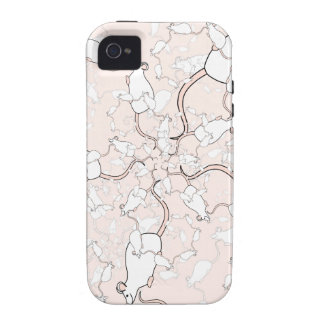 Cute White Mouse Pattern Mice on Pink iPhone 4 Cover