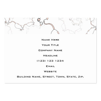 Cute White Mouse Pattern. Mice on White. Business Card Template