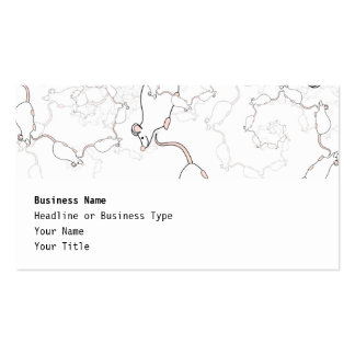 Cute White Mouse Pattern. Mice on White. Business Card
