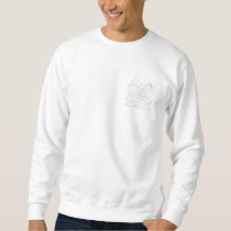 Cute White Mouse Pattern. Mice on White. Sweatshirt