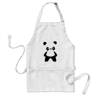 Cute White Negative Space Panda Aprons