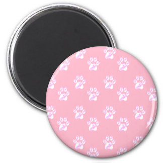 Cute white paws magnet