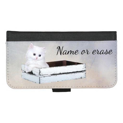 Cute White Persian Kitten iPhone 8/7 Plus Wallet Case