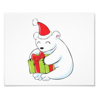 Cute White Polar Bear Invitation Poster Label Card Photo