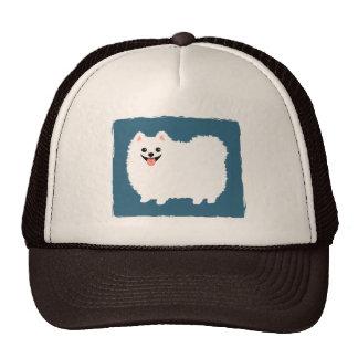 Cute White Pomeranian Trucker Hat