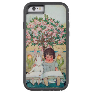 Cute White Rabbit and Young Girl Learn to ReadWand Tough Xtreme iPhone 6 Case