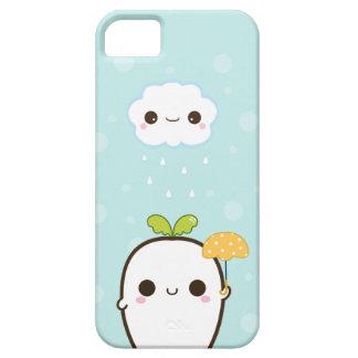Cute white radish with kawaii cloud iPhone 5 covers