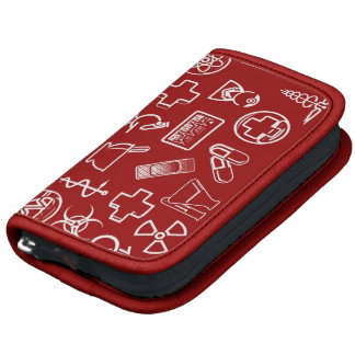 Cute white red medical icons design organizers