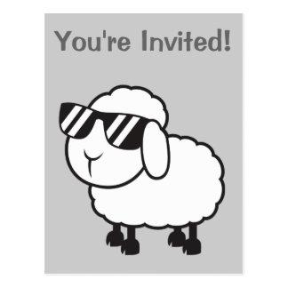 Cute White Sheep Cartoon Postcard