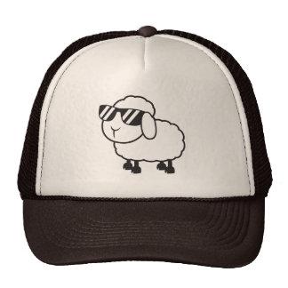 Cute White Sheep Cartoon Trucker Hat