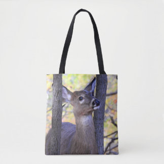 Cute White Tailed Deer  (2 Sides) Tote Bag