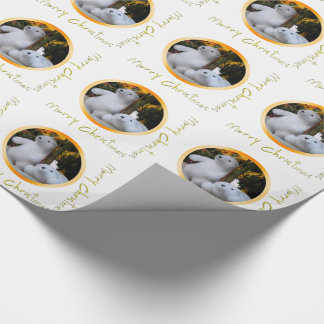 Cute White Teddy Bears Christmas Wrapping Paper 3