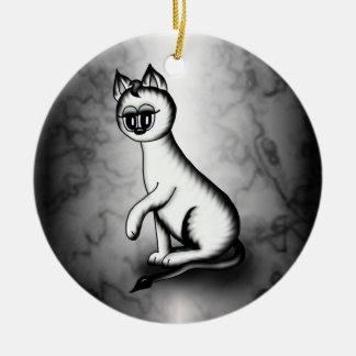 cute white tiger cat ornament