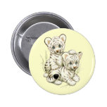 Cute White Tiger Cubs Pin