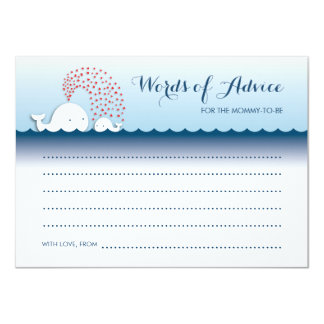 Cute White Whales Stylish Words of Advice Cards