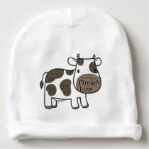 Cute  White with cow Baby Beanie