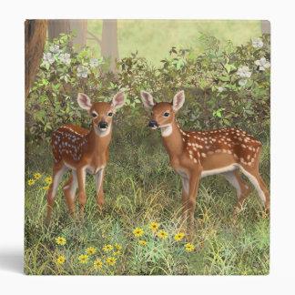 Cute Whitetail Deer Twin Fawns Binder