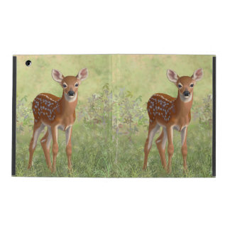 Cute Whitetail Fawn iPad Folio Case