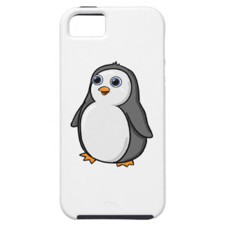 Cute Wide-Eyed Baby Penguin iPhone 5 Case
