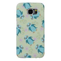 Cute Wide-eyed Blue Owl Pattern Print Samsung Galaxy S6 Case