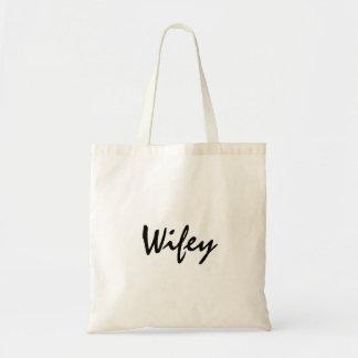 Cute wifey tote for bride honeymoon or wedding