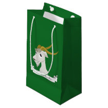 Cute wild goat cartoon small gift bag
