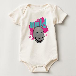 Cute Wild HIppo Baby Bodysuit