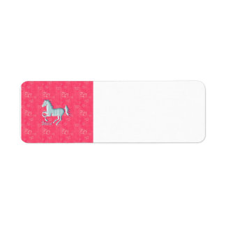 Cute Wild Horse with stripes and butterflies Custom Return Address Labels