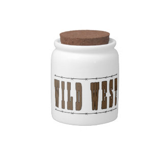 Cute Wild West Western Humor Spare Change Bank Candy Jars