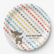 Cute wilderness animal paper plate