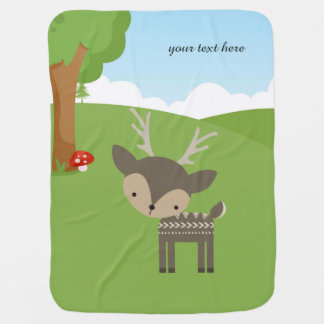 Cute Wilderness Swaddle Blanket