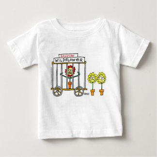 Cute Wildflower Cartoon Cranky Baby Baby T-Shirt