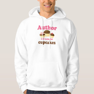 Cute Will Write For Cupcakes Author Gift Hoodie
