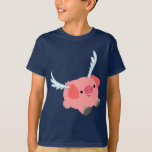 Cute Winged Cartoon Pig Children T-Shirt