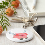 Cute Winged Cartoon Pig Keychain