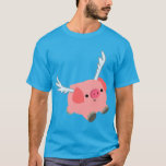 Cute Winged Cartoon Pig T-Shirt