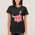 Cute Winged Cartoon Pig Women T-Shirt